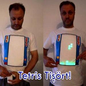 Üzerinde Tetris Oynanabilen Tişört - www.arsivbelge.com